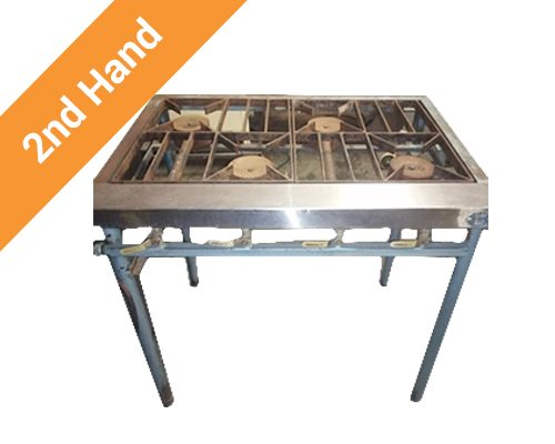 Second hand 4 burner boiling table