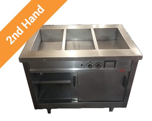 Second hand Bain Marie 3 Division Standing with Doors
