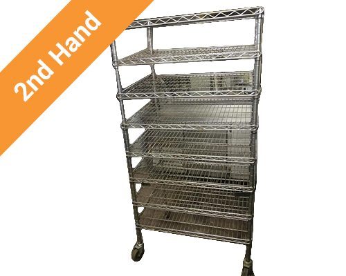 second hand bread cooling trolley chrome
