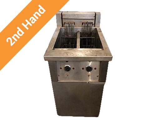 Second hand Double Chip Fryer 2 x 10l 3 Phase