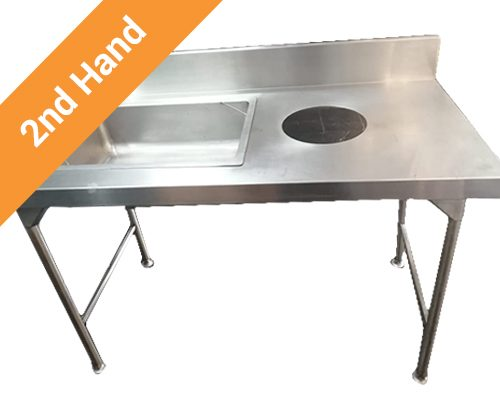 Second hand Dump Table with Bowl 1,7m