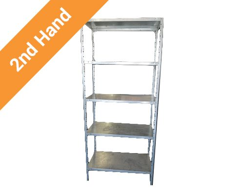 Second hand 5 Tier Shelving Unit Galvanised