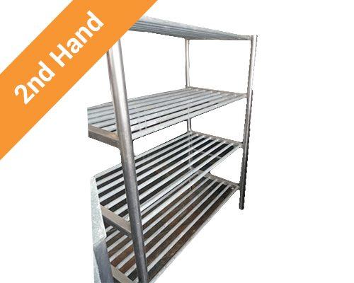 second hand Stainless Steel Pot Rack Floor Standing