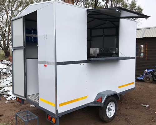 Mobile shisa nyama food trailer