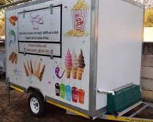 Mobile ice cream trailer