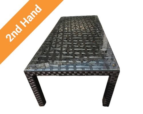 Second hand glass top table
