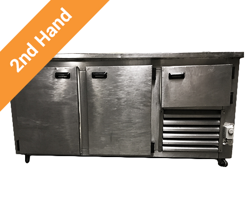 Second hand 2 and half Door Underbar Fridge