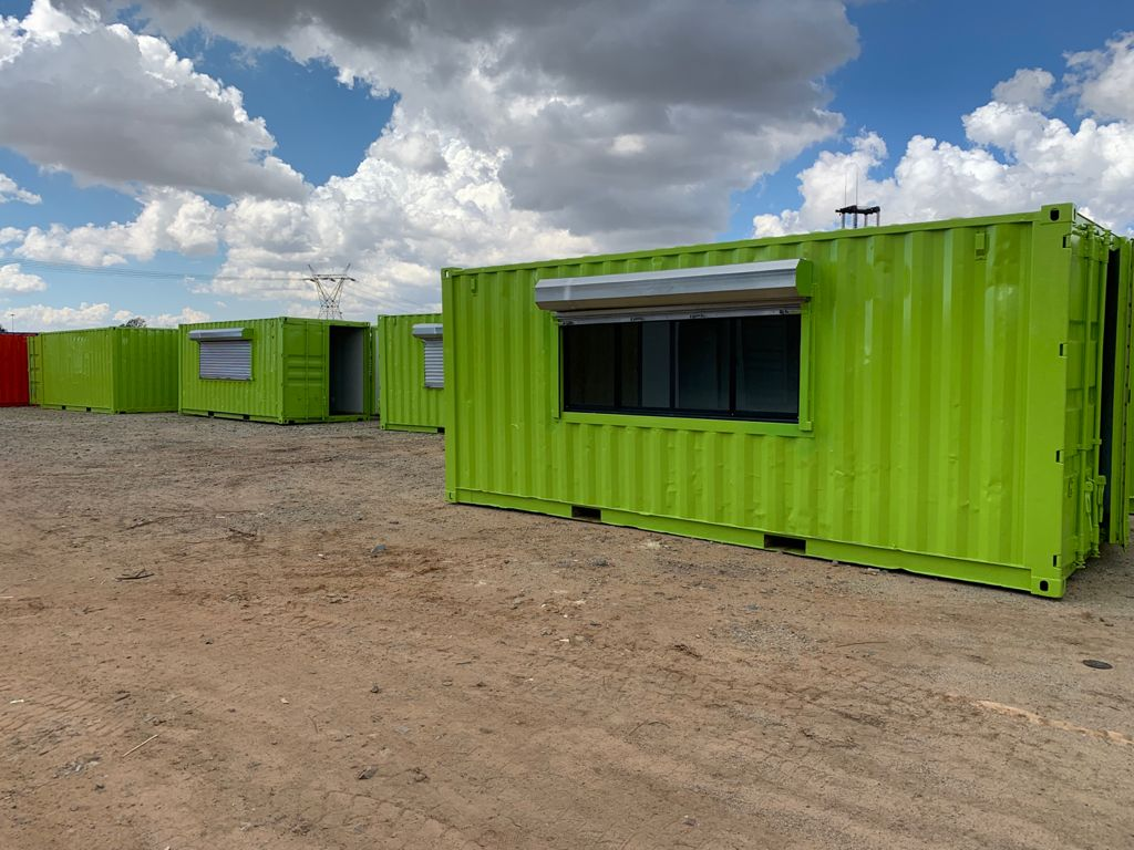 Green 6m container